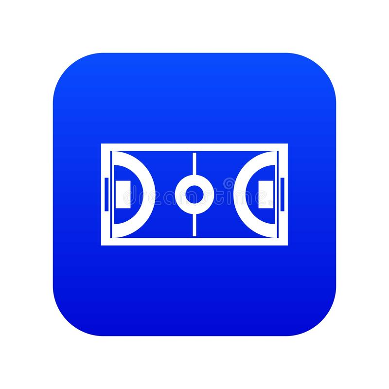 Futsal或室内足球领域象数字蓝色 皇族释放例证