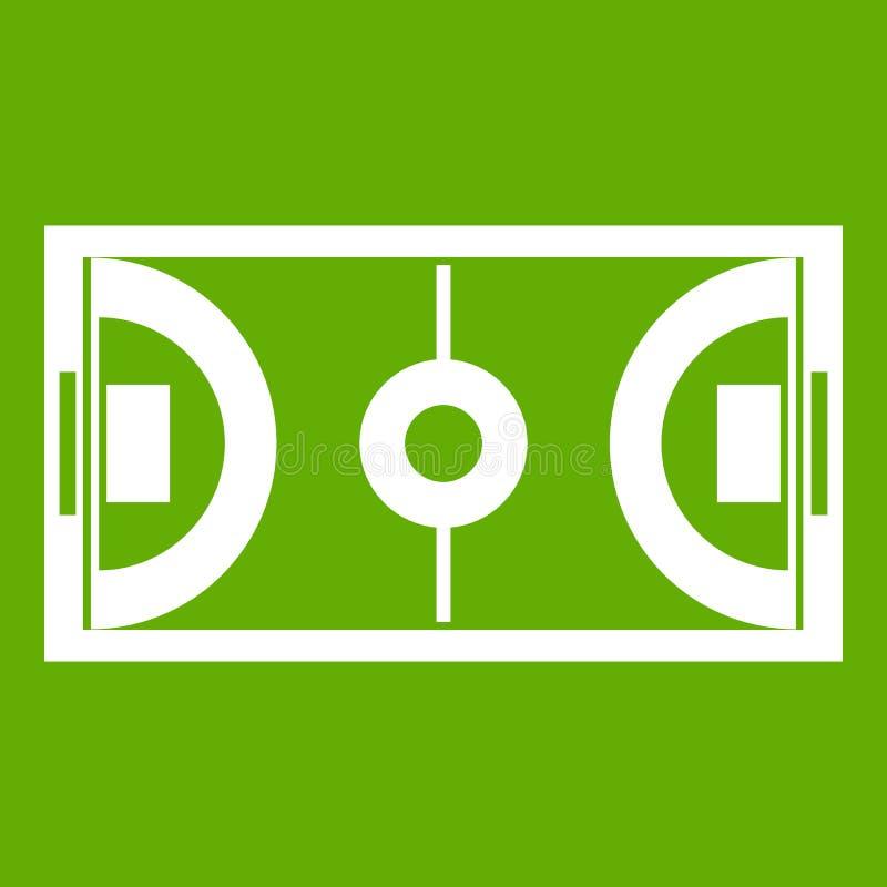 Futsal或室内足球领域象绿色 皇族释放例证