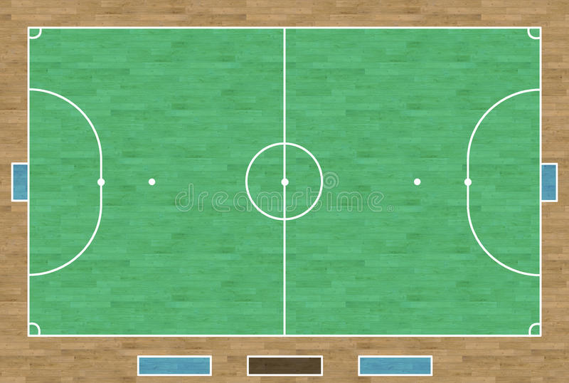 Futsal法院 向量例证