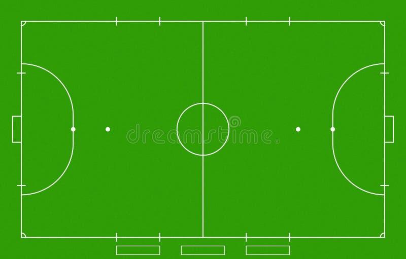 Futsal领域 向量例证
