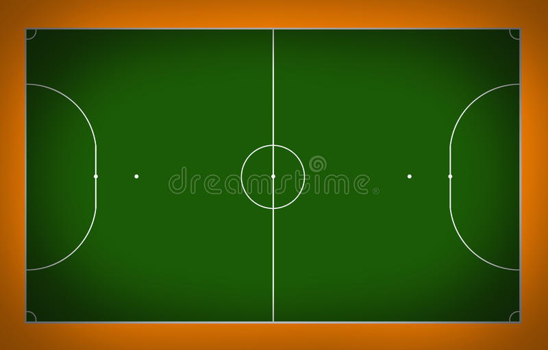 Futsal court. Football court sport game cup background for design royalty free illustration