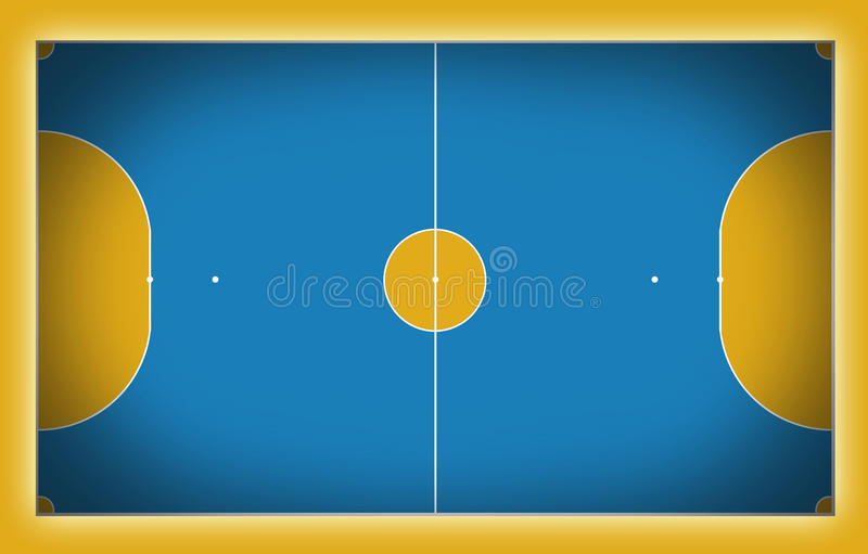 futsal domstol stock illustrationer