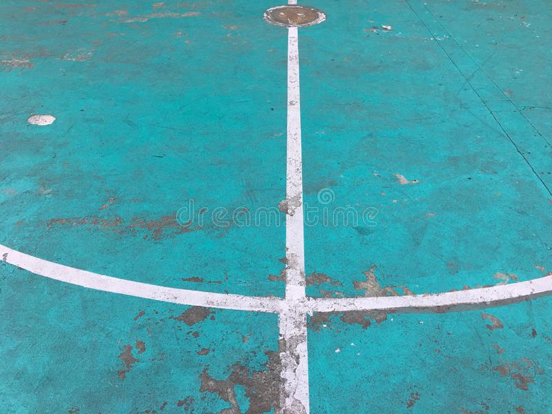 Futsal field white line close. royalty free stock images