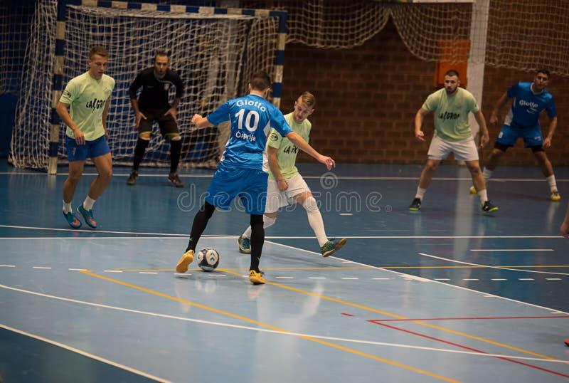 Futsal gracz w sport sala obraz royalty free
