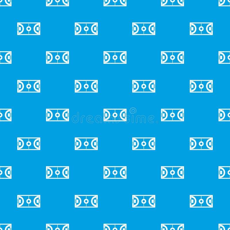 Futsal ou bleu sans couture de modèle de champ de football en salle illustration libre de droits