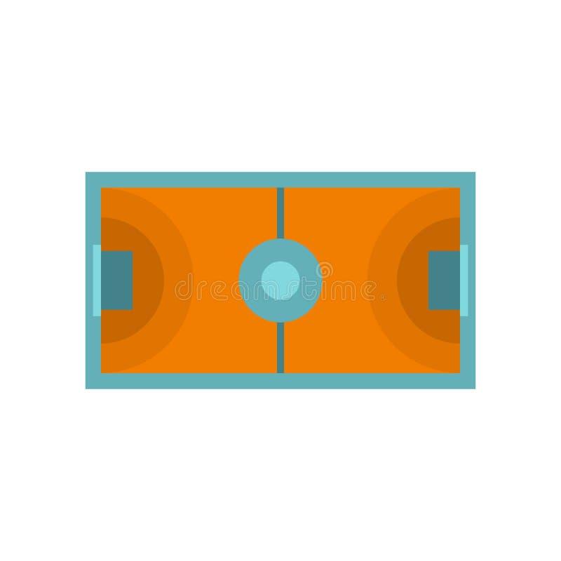 Futsal ou icône de champ de football en salle, style plat illustration de vecteur
