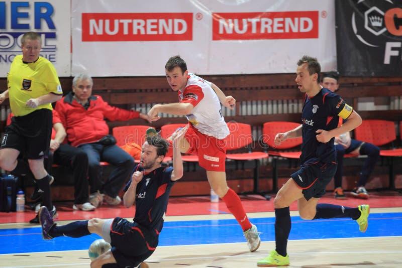Futsal - Slavia布拉格对ERA-PACK Chrudim 免版税库存图片