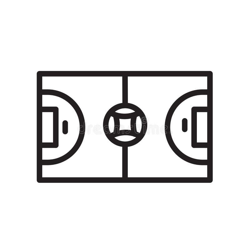 futsal symbol som isoleras på vit bakgrund royaltyfri illustrationer