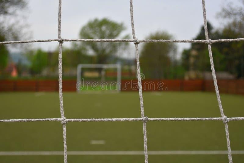 Futsalhof achter netto doel royalty-vrije stock afbeelding