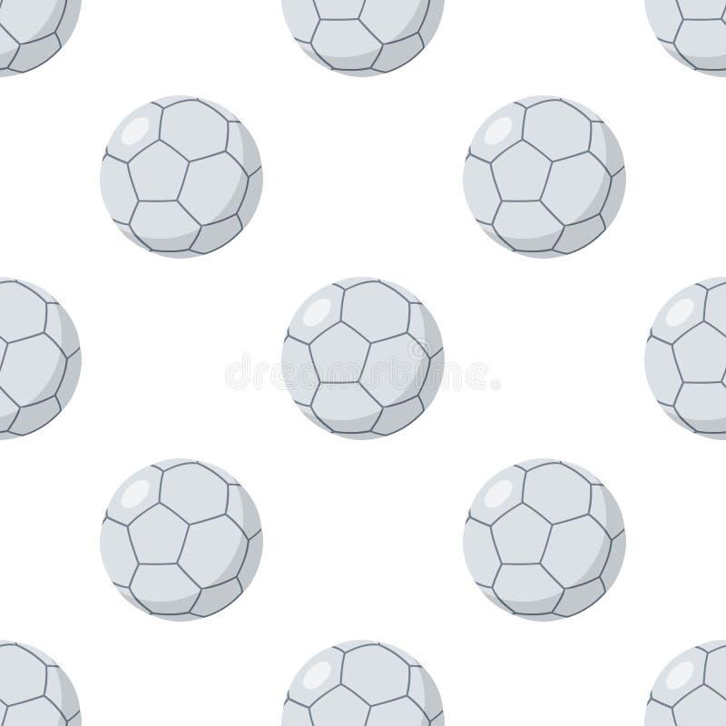 Futsals-Ball-flache Ikonen-nahtloses Muster stock abbildung