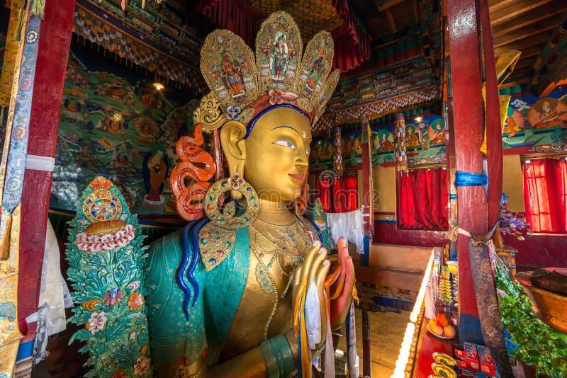 Futur Bouddha ou Maitreya Bouddha 28ème dans le monastère de Thiksey Gompa dans Ladakh, Inde du nord images stock
