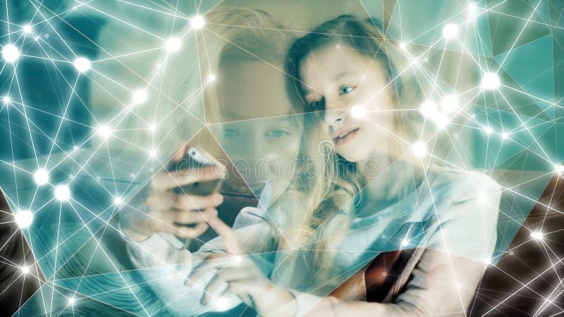 Futur concept de technologie, concept créatif de processus facial humain de balayage photo stock