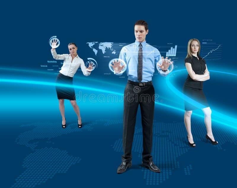 Futur concept de travail d'équipe images libres de droits