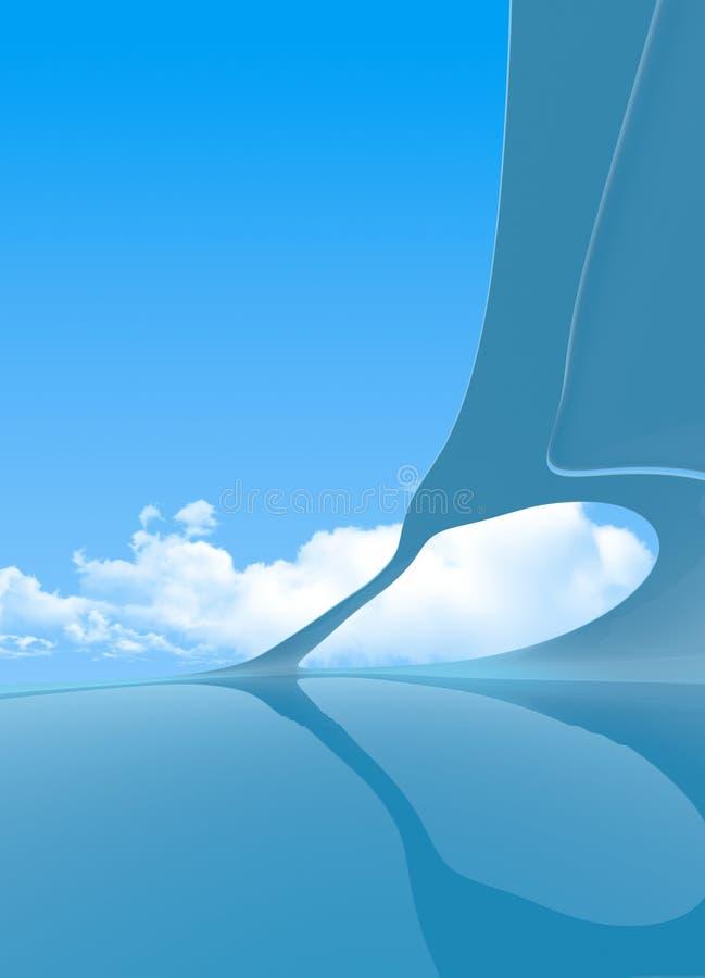 Futur copyspace vertical intérieur illustration stock