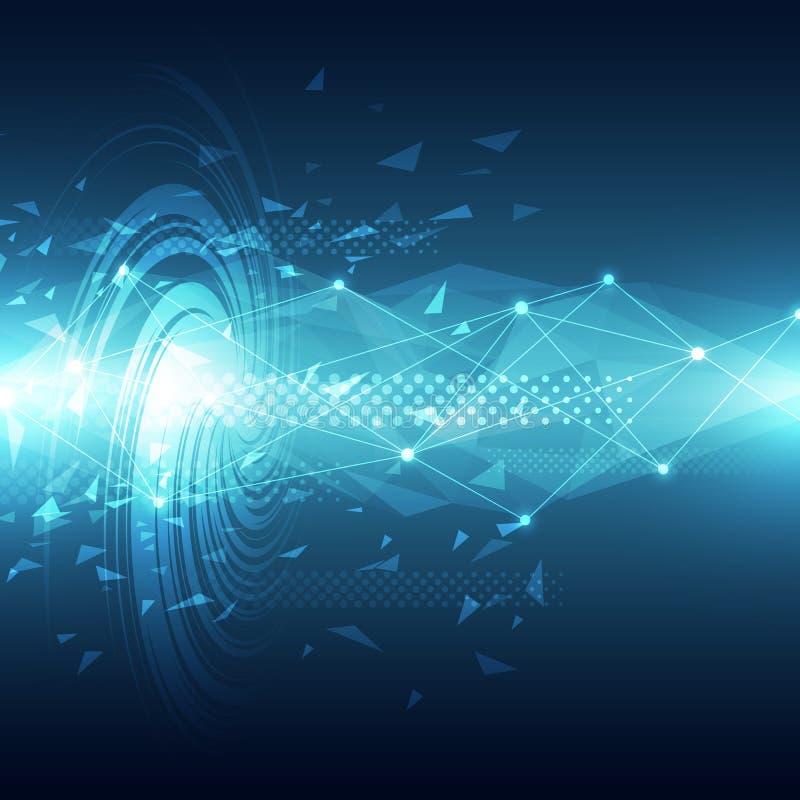Futur fond abstrait de concept de technologie, illustration de vecteur illustration stock