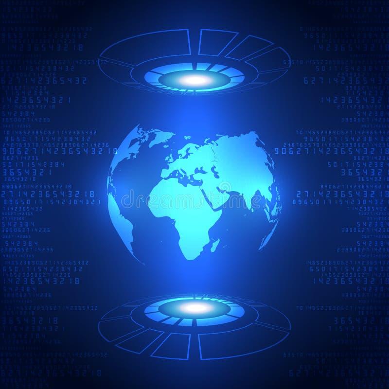 Futur fond global abstrait de technologie, illustration de vecteur illustration libre de droits