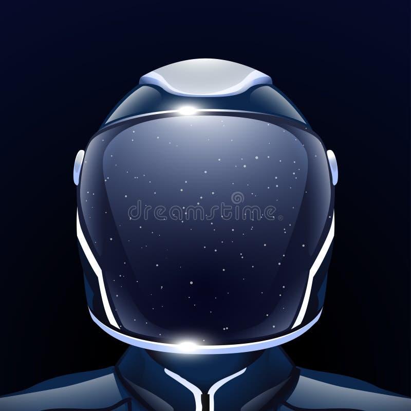 Futur homme de l'espace illustration stock