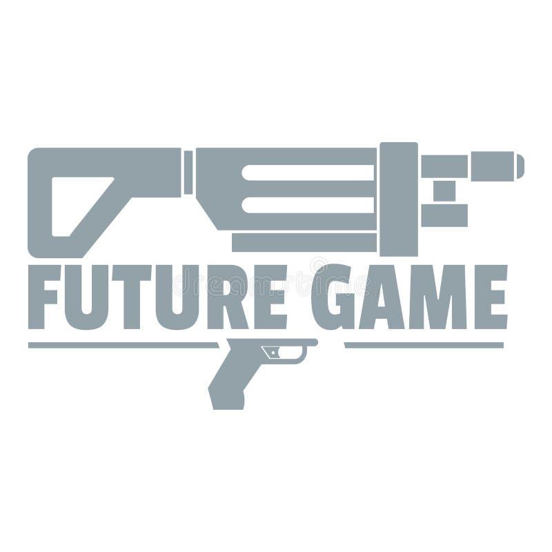 Futur logo de jeu, style gris simple illustration libre de droits