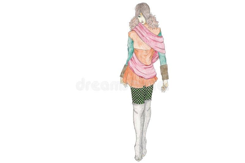 Futur modèle de mode illustration de vecteur