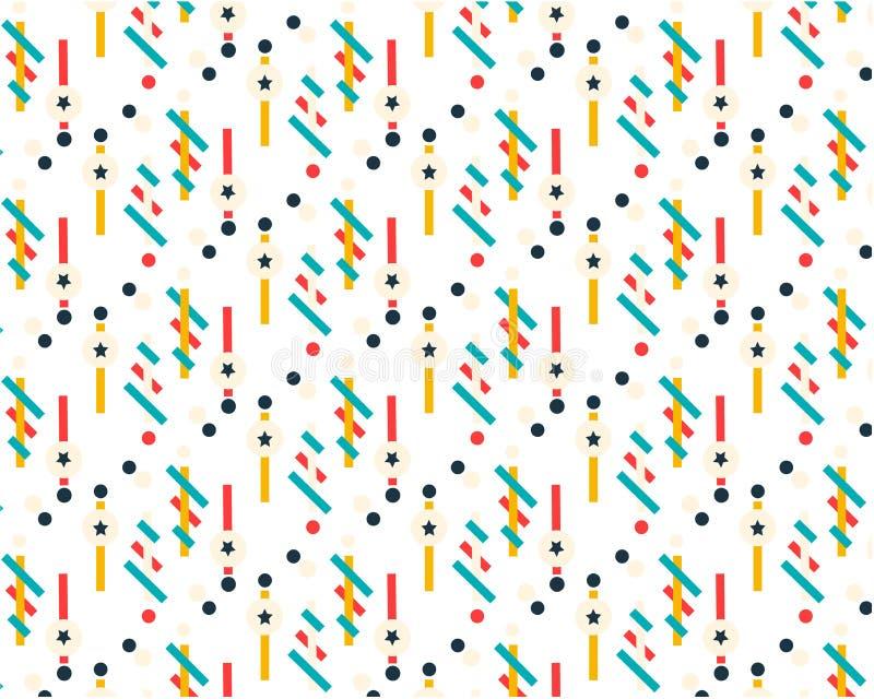 Futur modèle géométrique Composition géométrique simple des figures Couleurs de hippie Conception à la mode originale Descripteur illustration libre de droits