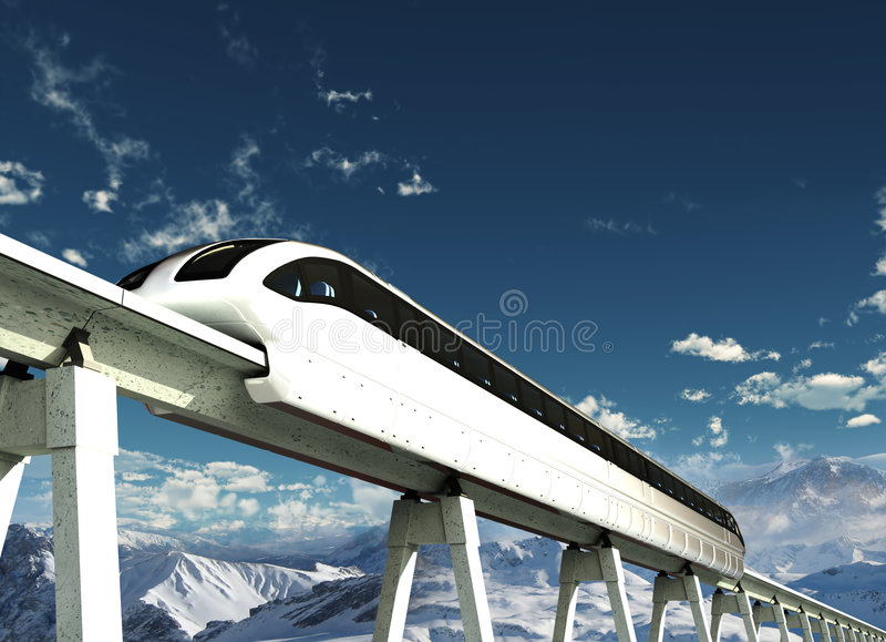 Futur transport illustration de vecteur