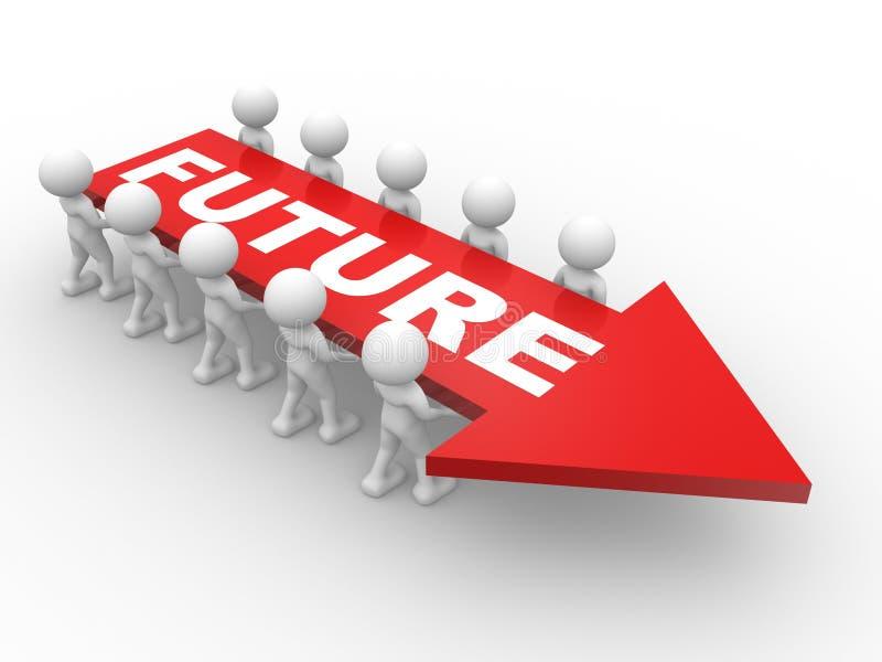 Download Future illustration stock. Illustration du panneau, businessman - 56483600