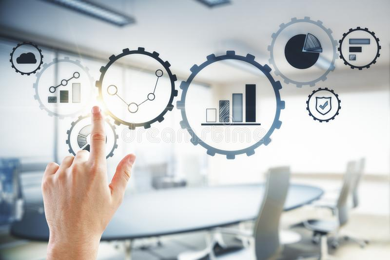 Future and analytics concept stock images