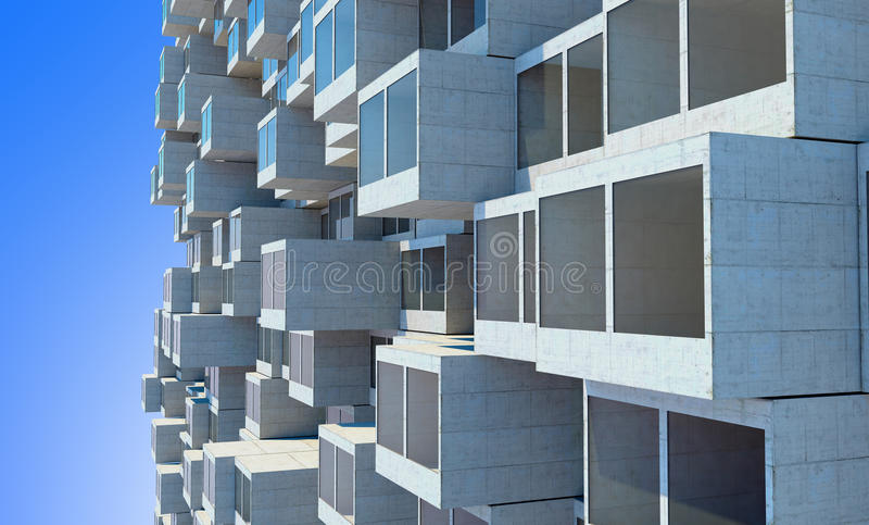 Future architecture. Futuristic building. modern building. Future concept stock illustration