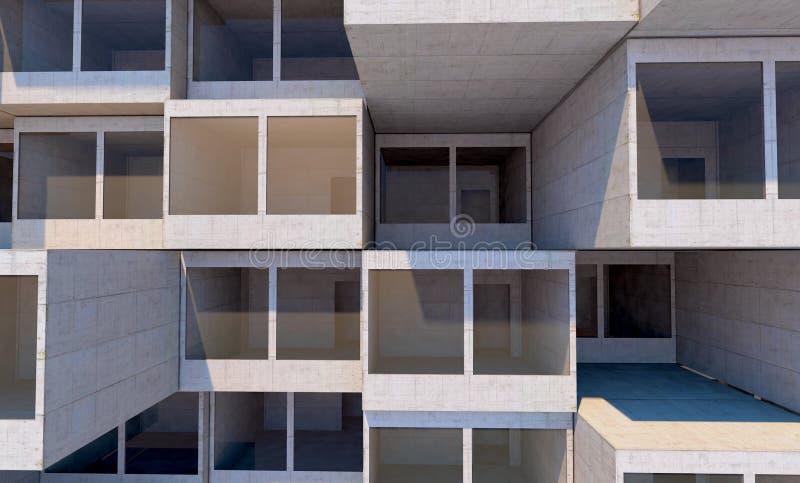 Future architecture. Futuristic building. modern building. Future concept royalty free illustration