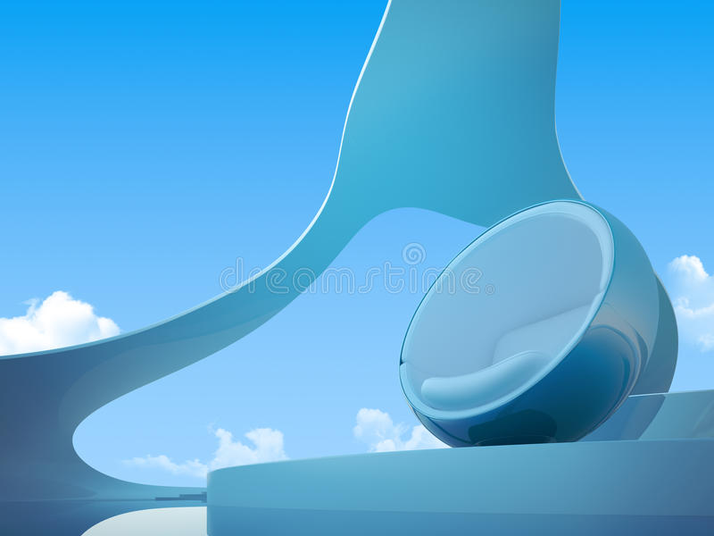 Download Future Armchair Closeup stock illustration. Image of architecture - 12139382