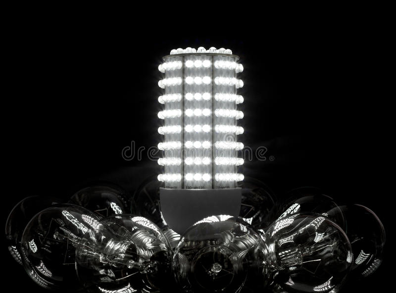 Download Future of the bulbs stock image. Image of luminous, dazzle - 14081189