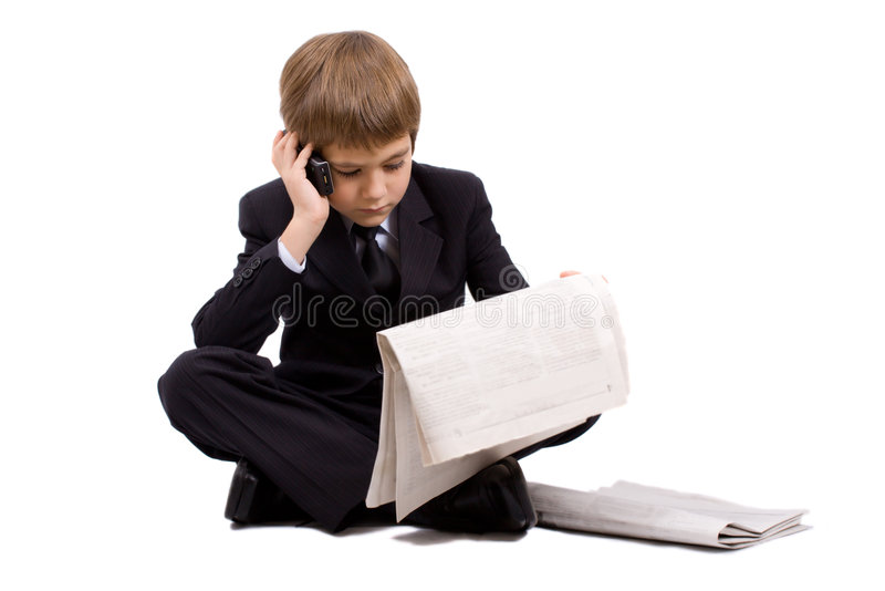 The future businessman, isolated over white royalty free stock photos