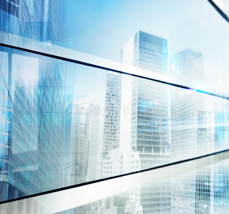Future city background stock photography