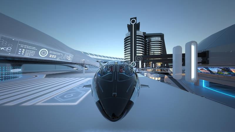 Future city. 3D CG rendering of the future city royalty free stock photos
