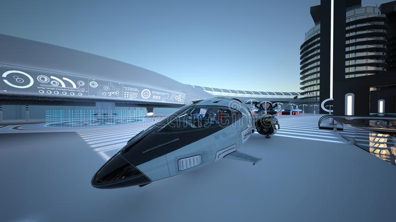 Future city. 3D CG rendering of the future city royalty free stock image