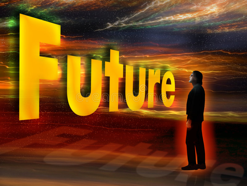 Future is coming royalty free illustration