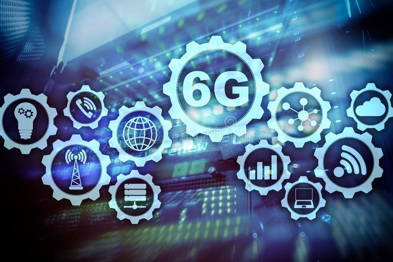 Future Communications Fast Technology. 6G Network Connection Concept. High Speed Mobile Wireless Technology stock photo