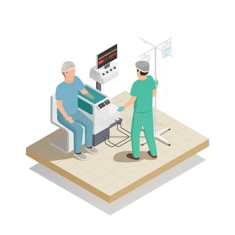 Future composition en technologie de médecine illustration libre de droits