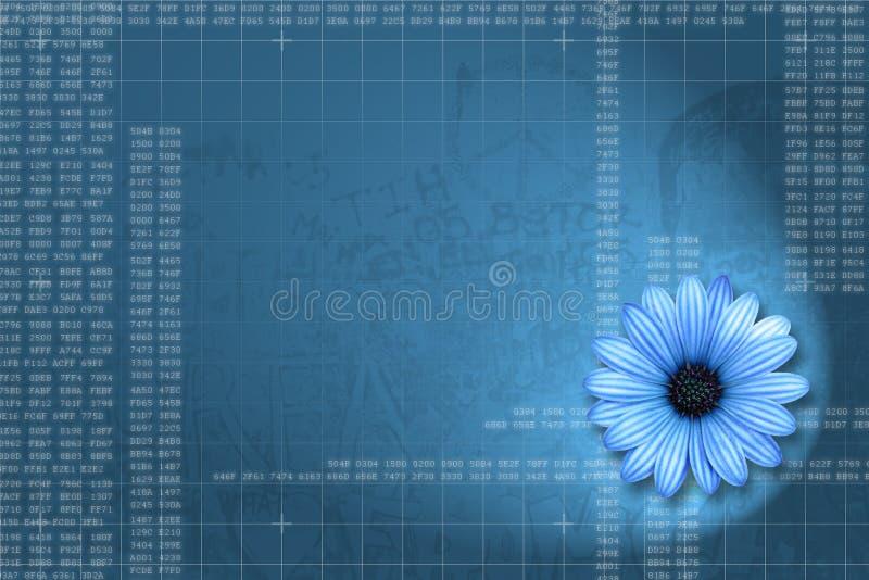 Future computer background / wallpaper. Blue future computer background / wallpaper stock illustration