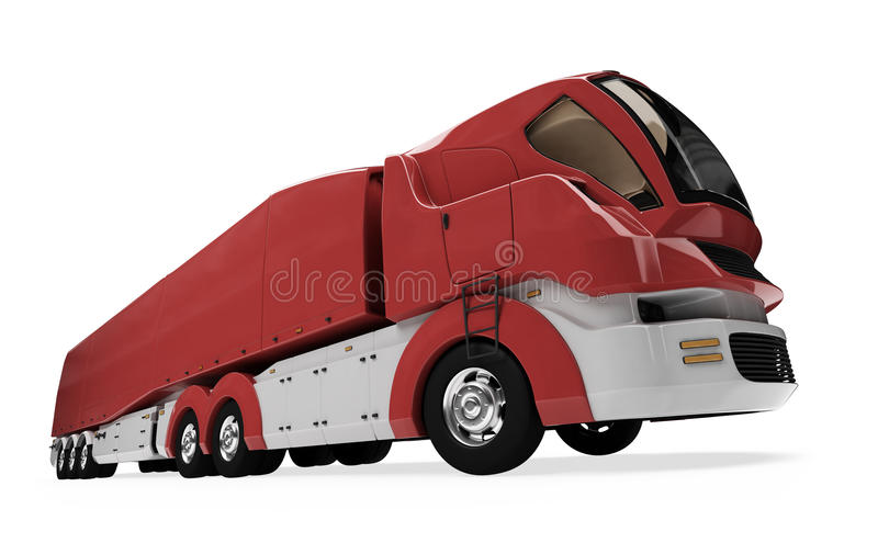 Download Future Concept Of Cargo Truck Isolated View Royalty Free Stock Photography - Image: 11159677