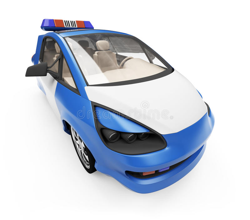Download Future Concept Of Police Car Isolated View Stock Illustration - Image: 11159652