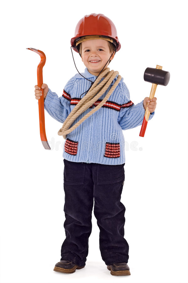 Future construction worker royalty free stock image