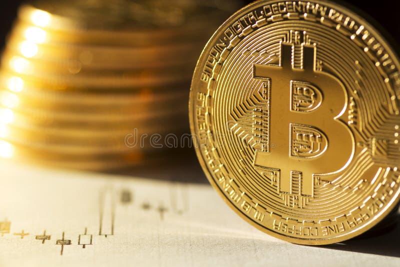 Future devise Bitcoin de Digital d'argent du ` s photos stock