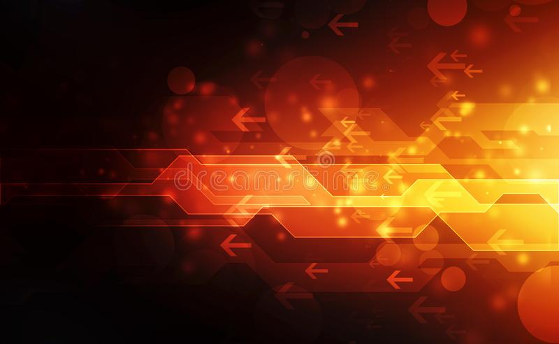 Future digital speed technology concept, abstract background illustration royalty free stock images