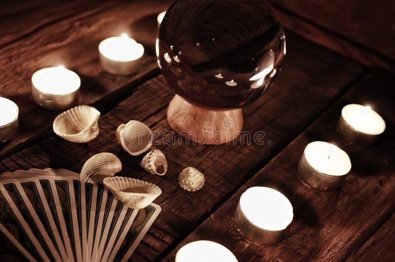Future divination de bougie de guichet image libre de droits