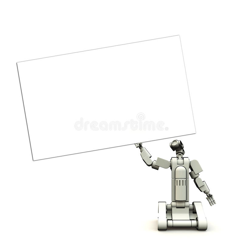 Download Future Droid With Sign Royalty Free Stock Photo - Image: 9911375
