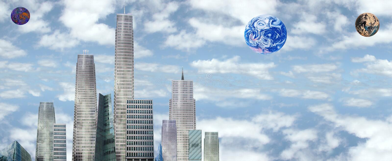 Future earth vector illustration