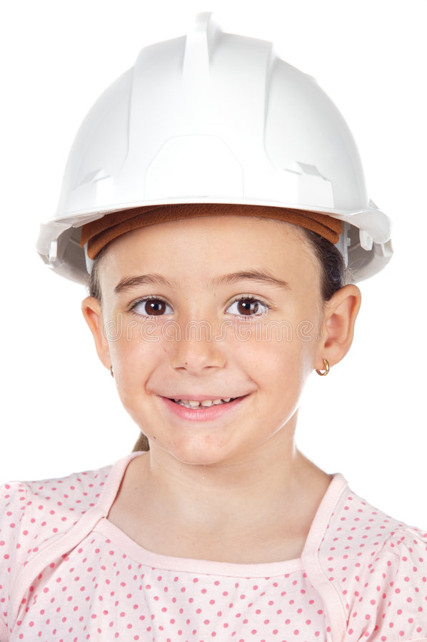 Download Future engineer girl stock photo. Image of kids, architect - 2787098