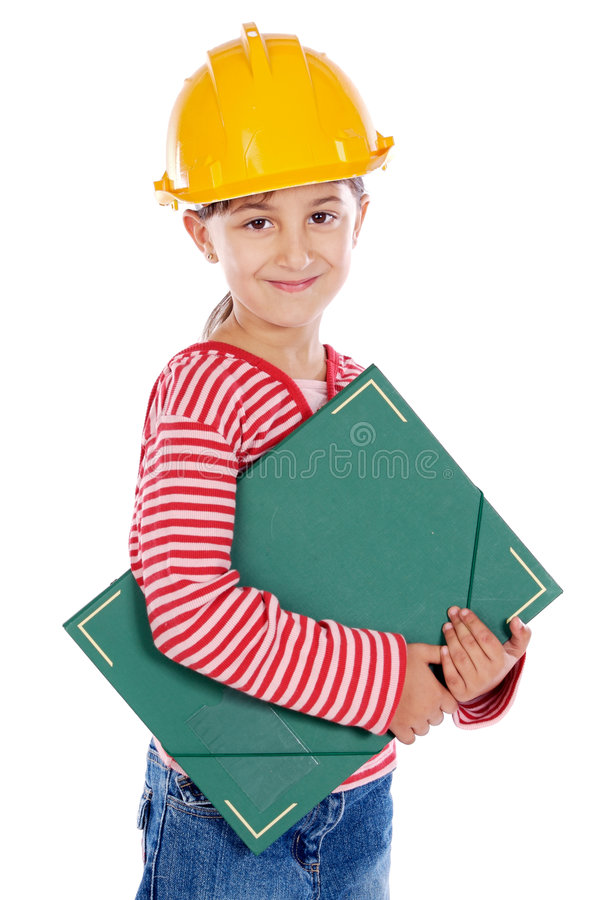 Future engineer girl royalty free stock photo