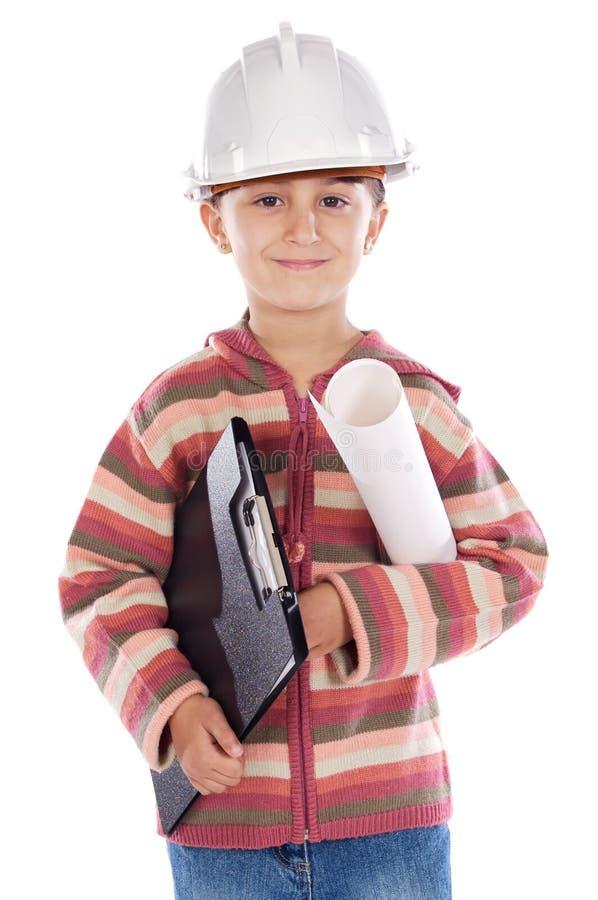 Future engineer girl stock image
